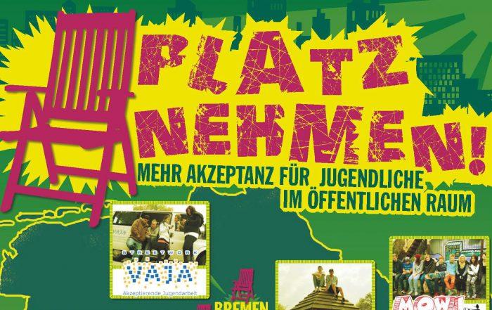 PLATZNEHMEN-Plakat